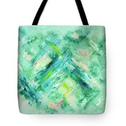 Abstract Green Blue Tote Bag