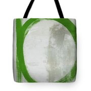 Abstract Green Circle 2- Art By Linda Woods Tote Bag