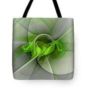 Abstract Green Fractal Art Tote Bag