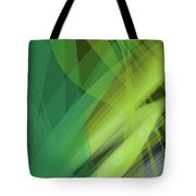 Abstract Green Vector Background Banner, Transparent Wave Lines  Tote Bag