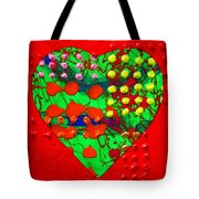 Abstract Haert 80218 Tote Bag