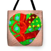 Abstract Heart 40218 Tote Bag