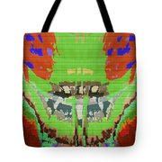Abstract Holistic Vallely Graphic Painting Inspiration From Sargada Temple  Lights N Shades Sagrada  Tote Bag