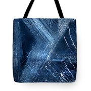 Abstract Ice. Darkness Tote Bag