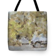 Abstract Image Of Car Passing Through A Dust Storm Tote Bag