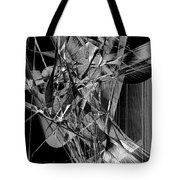Abstract In Black And White 2 Tote Bag