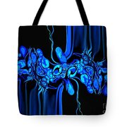 Abstract In Blue 3 Tote Bag