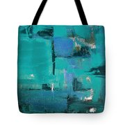 Abstract In Blue Tote Bag
