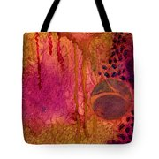 Abstract In Gold And Plum Tote Bag