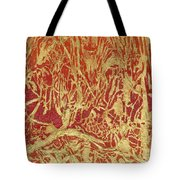 Abstract In Gold Tote Bag