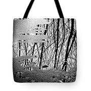 Abstract In Ice Tote Bag