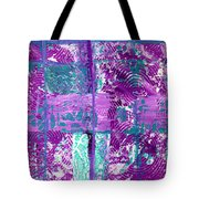 Abstract In Purple And Teal Tote Bag