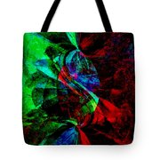 Abstract In Red And Green Tote Bag