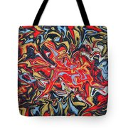 Abstract In Red Tote Bag