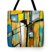 Abstract In Yellow And Blue Tote Bag