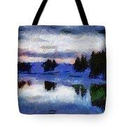 Abstract Invernal River Tote Bag