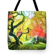 Abstract Japanese Maple Tree 5 Tote Bag