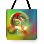 Abstract Karma Wheel Tote Bag