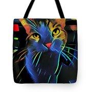Abstract Kitty Tote Bag