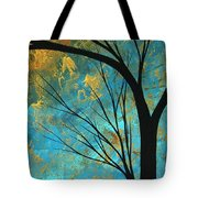 Abstract Landscape Art Passing Beauty 3 Of 5 Tote Bag by Megan Duncanson