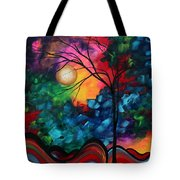 Abstract Landscape Bold Colorful Painting Tote Bag by Megan Duncanson