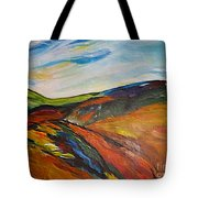 abstract landscape-Haloze Tote Bag