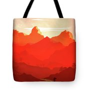 Abstract Landscape Mountain Road Art 5 - By Diana Van Tote Bag
