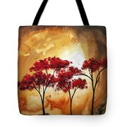 Abstract Landscape Painting Empty Nest 2 By Madart Tote Bag