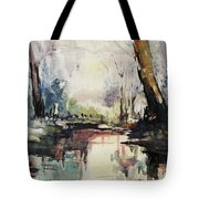 Original Watercolor Painting. Abstract Watercolor Landscape Painting Tote Bag
