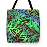 Abstract Leaves Cocoa Green Tote Bag