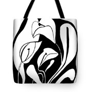 Abstract Lilies Tote Bag