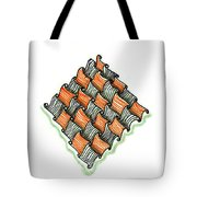 Abstract Line Design In Black And Orange Tote Bag