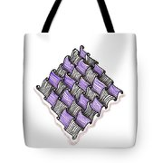 Abstract Line Design In Black And Purple Tote Bag