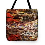 Abstract Magnified Lines Tote Bag