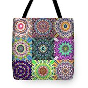 Abstract Mandala Collage Tote Bag