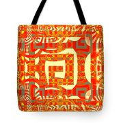 Abstract Maze Tote Bag