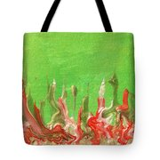 Abstract Mirage Cityscape In Green Tote Bag