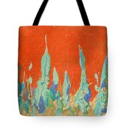 Abstract Mirage Cityscape In Orange Tote Bag