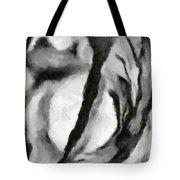 Abstract Monochome 154 Tote Bag