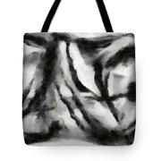 Abstract Monochome 158 Tote Bag