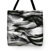 Abstract Monochome 162 Tote Bag