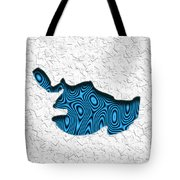 Abstract Monster Cut-out Series - Blue Swimmer Tote Bag