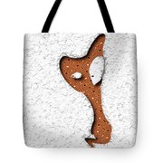 Abstract Monster Cut-out Series - Orange Slither Tote Bag