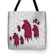 Abstract Monster Cut-out Series - Red Rally Tote Bag