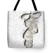 Abstract Monster Cut-out Series - Sandstone Trooper Tote Bag