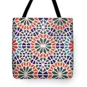 Abstract Moroccon Tiles Colorful Tote Bag