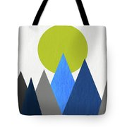 Abstract Mountains And Sun Tote Bag