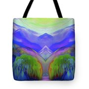 Abstract Mountains By Nixo Tote Bag