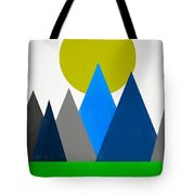 Abstract Mountains Landscape Tote Bag