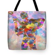 Abstract Musican Guitarist Tote Bag